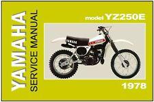 YAMAHA Workshop Manual YZ250 YZ250E 1978 VMX Maintenance Service & Repair