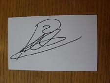 50's-2000's Autographed White Card: Nielsen, Robbie - Leicester City