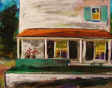 ORIGINAL Porch landscape PASTEL Painting  John Williams JMW art Impressionism