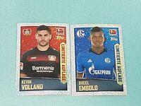 Topps Bundesliga Sticker 2016/2017 2 x Limitierte Auflage Neu Embolo Volland