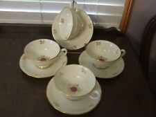 3 saucers Lenox Rhodora Gold Backstamp Saucers,Near Mint