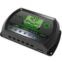 LCD 10/20/30A PWM Solar Panel Battery Regulator Charge Controller 12V/24V