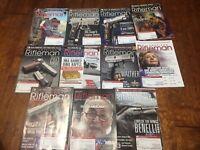 *lot of 11 American Rifleman magazines 2017 & 2016 NRA Gun Handgun Shooting Hunt