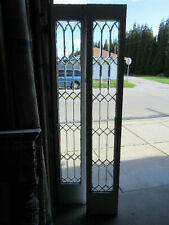 ~ Pair Antique Beveled Glass Sidelites Or Doors 14 X 83 ~ Architectural Salvage
