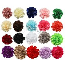 Lot/20Pcs DIY Ribbon Flowers for Corsage Headband Hair Bow Crafts Baby Girl Kids