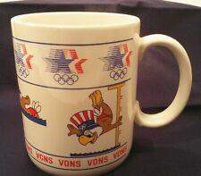 RARE Sam the Olympic Eagle 1980s Games VONS Papel USA Ceramic Souvenir Cup Mug