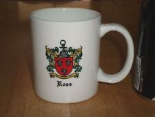 HERALDRY - FAMILY COAT OF ARMS - ROSS, Ceramic Coffee Cup, VINTAGE