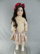 "23"" artist antique reproduction French bisque head Seeley Bebe Jumeau Doll"