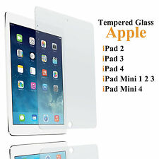 Clear Hard Tempered Glass Screen Protector for Apple iPad 2 3 4 Mini 4/3/2/1