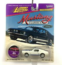 Johnny Lightning 1967 67 Ford Mustang Shelby GT 350 Car White Die Cast 1/64