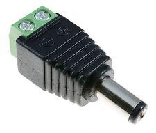 2.1 Mm Macho Conector Jack Dc Conector Con Terminales De Tornillo