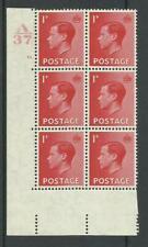 1936, Sg458, P2, 1d Scarlet, A37 / 13 dot, Mm, (02817)