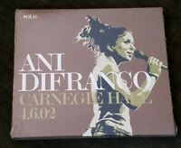 NEW Factory-Sealed ANI DiFRANCO Carnegie Hall 4.6.02 CD