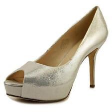 Zapatos de tacón de mujer Nine West color principal plata de piel
