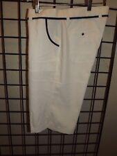NWOT Ladies Callaway Golf Bermuda/Walking Shorts White/Black Size 10