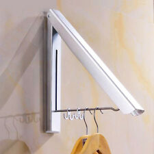 Support Mural Cintre Rétractable Aluminium Porte Serviette Vêtements Manteaux