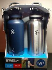 NIB Takeya 2-Pack Stainless Steel Thermo Flask Water Bottles