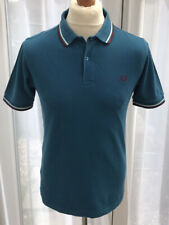 MEN'S FRED PERRY POLO SHIRT SIZE MEDIUM SLIM FIT (GOOD CONDITION) PETROL BLUE