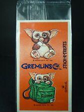VINTAGE 1980'S WARNER BROS. INC HALLMARK STICK-R-TREATS GREMLINS GIZMO STICKERS