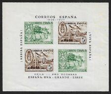 Spain Civil War local 1937 EPILA souvenir sheet MH Sofina #5 UNKNOWN INK MARKS