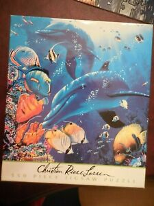 Ceaco Puzzle Christian Riese Lassen Ocean Sea Puzzle  550 Pieces Dolphin Fish