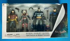 DC COLLECTIBLES ROBIN HARLEY QUINN BATMAN NIGHTWING ARKHAM CITY 4-PACK NIB