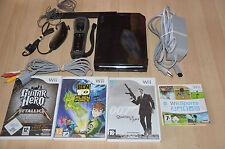 lot console Nintendo Wii black noire + 4 jeux