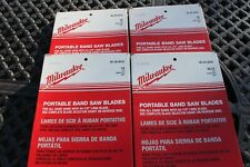Lot 4 Milwaukee Portable Band Saw Blades 48 39 0510 0520 0530 0550 44 78 New
