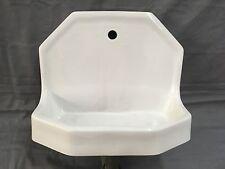 Small Vtg Standard Ceramic White Porcelain Fountain Dental Sink 529-17E