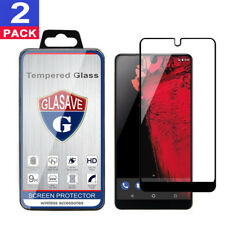 (2 Pack) GLASAVE Essential Phone PH-1 FULL COVER Tempered Glass Screen Protector