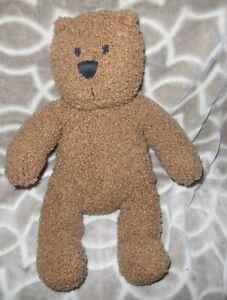 "Baby Gap Teddy Bear Plush Toy 14"" Brown Curly Fur Stuffed Animal With Bean Legs"