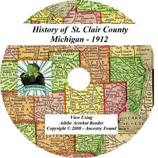 1912 History & Genealogy of St. Clair County Michigan