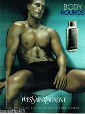 PUBLICITE ADVERTISING 046  2000  Yves Saint Laurent eau toilette Body Kouros hom