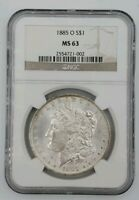 1885-O - Morgan Silver Dollar - NGC - MS63