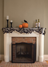 "HALLOWEEN Heritage Lace GOING BATTY Mantle Scarf, Valance 60""x20"" 4-Way"