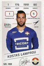 Football Tradingcard Plus 2015-2016 188 Kostas Lamprou Willem II Tilburg