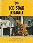 Brochure - JCB - 506B Loadall - Telescopic Materials Handler - c1994 (LT515)