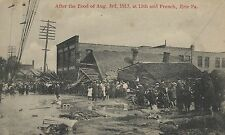 After the Flood of Aug. 3rd 1915 at 13th and French Erie PA Post Card