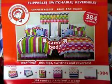 COMPLETE Queen BED SET Comforter, Shams, Sheet Set, Cases, Bedskirt 384 Com NEW