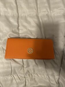 Tory Burch eye glass case orange NWOT