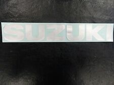 "SUZUKI DECAL SILVER 12 7/8"" X 1 7/8"" 6868119C00Y2D MARINE BOAT"