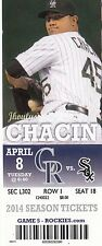2014 COLORADO ROCKIES VS CHICAGO WHITE SOX TICKET STUB (18) 4/8 JOSE ABREU HR #1