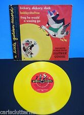 Vintage Children's Little Golden Record Mother Goose Yellow Vinyl 1949 Hickory
