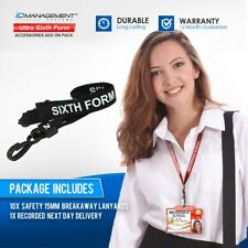 10 Sixth Form Breakaway Lanyards with Plastic Clip • Free UK Delivery