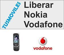 Liberar Nokia VODAFONE imei X3 X6 X7 C3 C5 C6 C7 N97 N8 5800 servicio Rápido 1 h