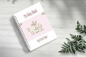 Baby Memory Book, Girls, Tribal Bo Ho, 0 to 5 Years Old, Printed FULL COLOUR, 84