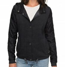 NWT WOMENS ROXY $75 MYSTIC FALL FLEECE QUILTED HOODIE HOODED JACKET S SMALL NEW