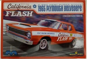 Moebius Kit 1221 - California Flash '65 Plymouth Belvedere 1/25 Scale Model Kit