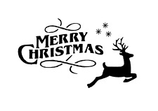"Schablone "" Merry Christmas 6 "" auf A4"