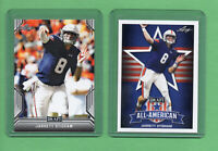 2019 Leaf Draft Football Jarrett Stidham ROOKIE LOT of 2 Patriots RC